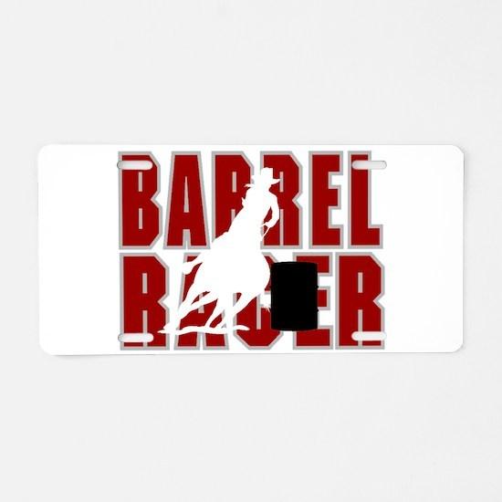 BARREL RACER [maroon] Aluminum License Plate