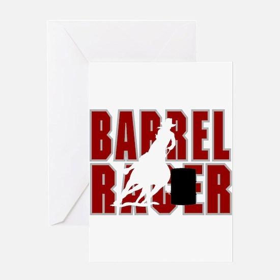 BARREL RACER [maroon] Greeting Card