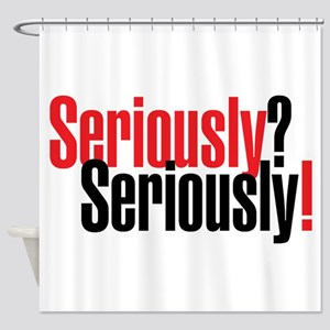 Seriously Black Shower Curtain