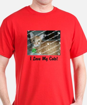CUSTOMIZE Add Photo Love Cats Men's T-Shirt
