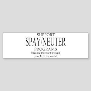 Support Spay/Neuter Programs Sticker (Bumper)