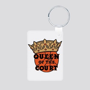 QUEEN OF THE COURT Aluminum Photo Keychain