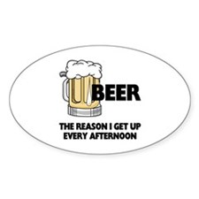 Beer Every Afternoon Sticker (Oval)