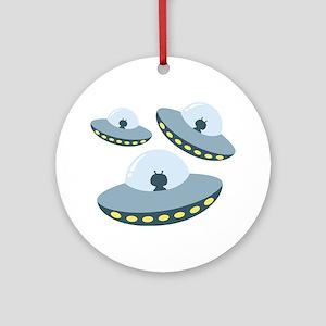 UFO Spacecrafts Ornament (Round)