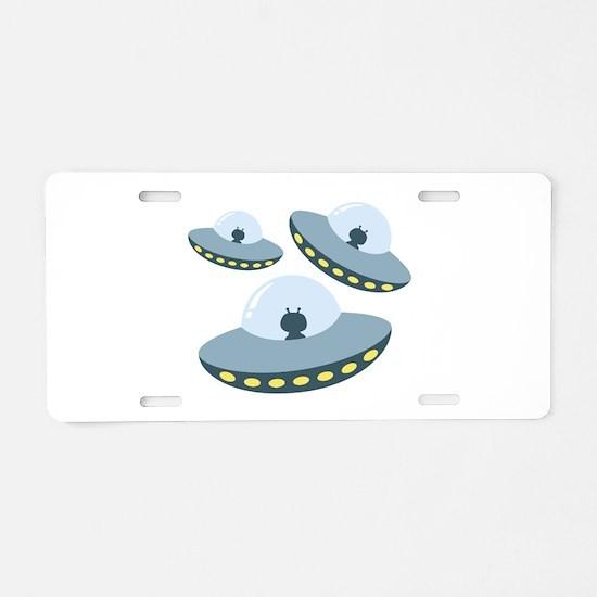UFO Spacecrafts Aluminum License Plate
