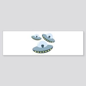 UFO Spacecrafts Bumper Sticker