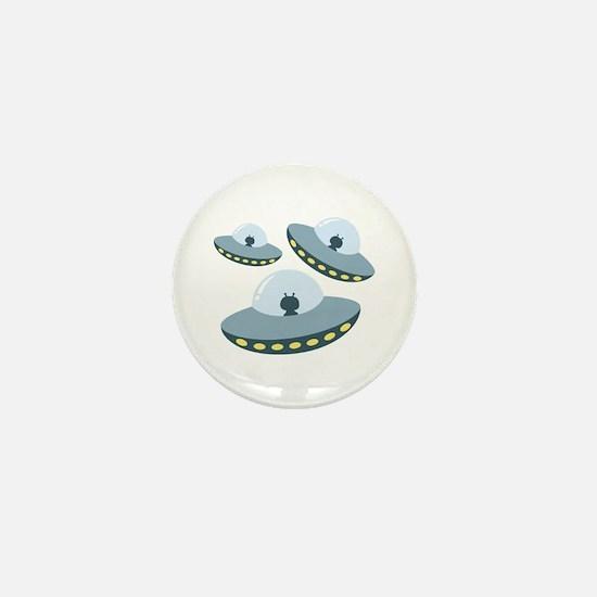 UFO Spacecrafts Mini Button