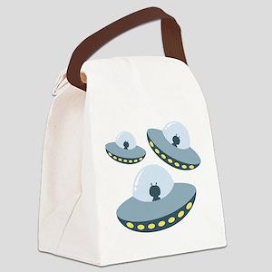UFO Spacecrafts Canvas Lunch Bag