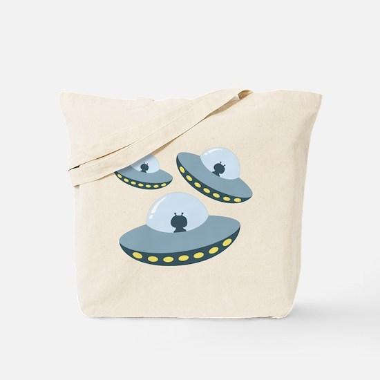 UFO Spacecrafts Tote Bag
