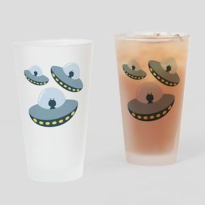 UFO Spacecrafts Drinking Glass