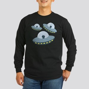 UFO Spacecrafts Long Sleeve T-Shirt