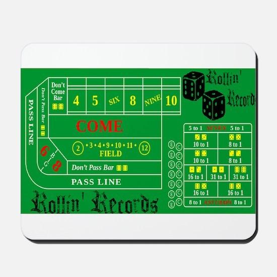 Rollin Records Craps Table Mousepad
