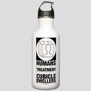 Ethical Treatment logo Stainless Water Bottle 1.0L