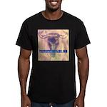 Steer Skull Men's Fitted T-Shirt (dark)