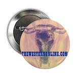 Steer Skull 2.25&Amp;Quot; Button