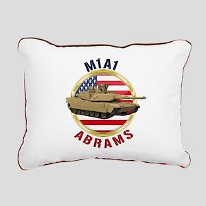 M1A1 Abrams Rectangular Canvas Pillow