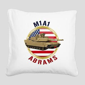 M1A1 Abrams Square Canvas Pillow