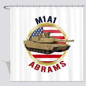 M1A1 Abrams Shower Curtain