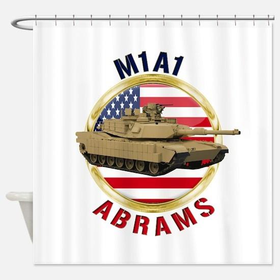 M1A1 Abrams Shower Curtain