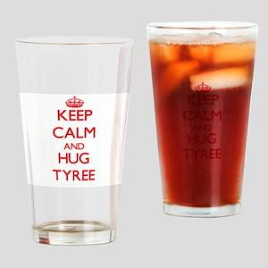 Keep Calm and HUG Tyree Drinking Glass