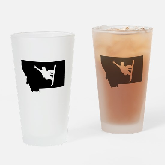 Montana Snowboarder Drinking Glass