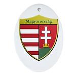 Hungary Metallic Shield Ornament (Oval)