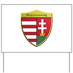 Hungary Metallic Shield Yard Sign