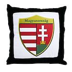 Hungary Metallic Shield Throw Pillow