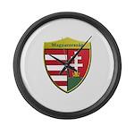 Hungary Metallic Shield Large Wall Clock