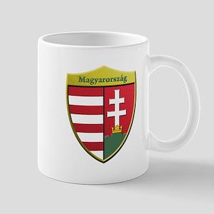 Hungary Metallic Shield Mugs