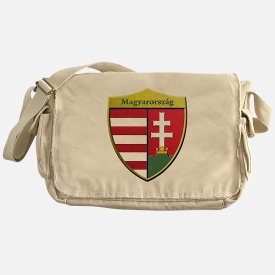 Hungary Metallic Shield Messenger Bag