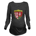 Hungary Metallic Shield Long Sleeve Maternity T-Sh