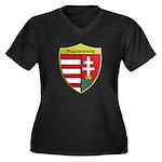 Hungary Metallic Shield Plus Size T-Shirt