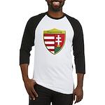 Hungary Metallic Shield Baseball Jersey