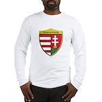 Hungary Metallic Shield Long Sleeve T-Shirt
