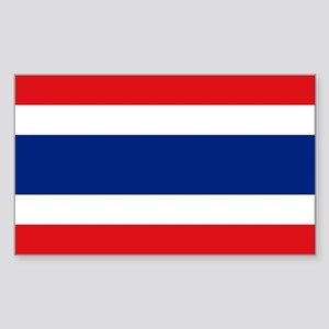 Thailand Flag Sticker (Rectangle)