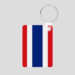 Thailand Flag Aluminum Photo Keychain