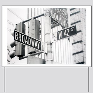 NY Broadway Times Square - Yard Sign