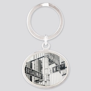 NY Broadway Times Square - Oval Keychain