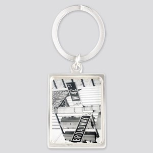 NY Broadway Times Square - Portrait Keychain