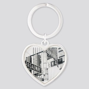NY Broadway Times Square - Heart Keychain