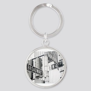 NY Broadway Times Square - Round Keychain