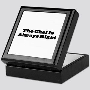 Chef Is Always Right Keepsake Box