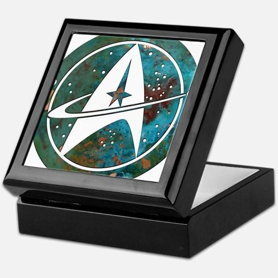 Star Trek logo Steam Punk Copper Keepsake Box
