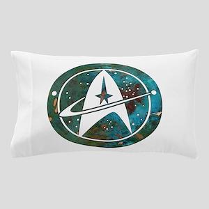 Star Trek logo Steam Punk Copper Pillow Case