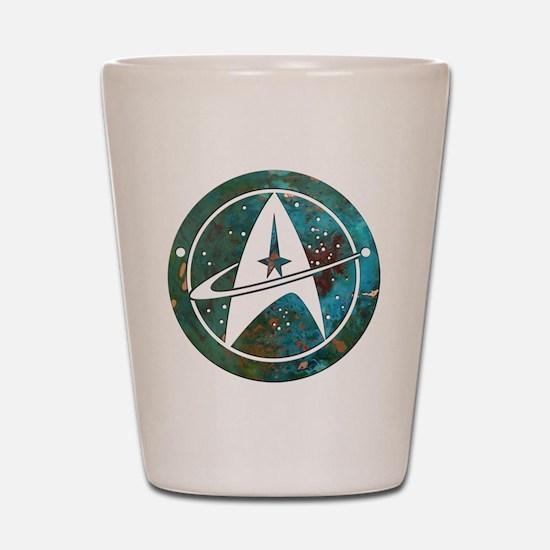 Star Trek logo Steam Punk Copper Shot Glass