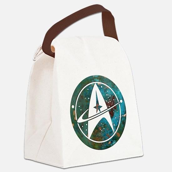 Star Trek logo Steam Punk Copper Canvas Lunch Bag