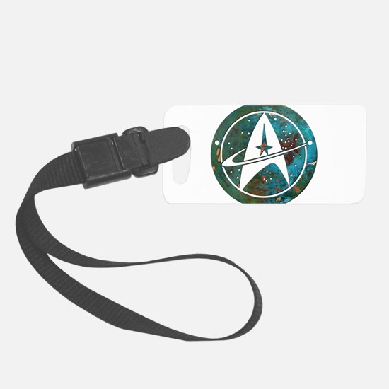 Star Trek logo Steam Punk Copper Luggage Tag