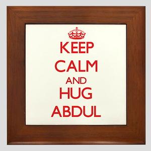 Keep Calm and HUG Abdul Framed Tile