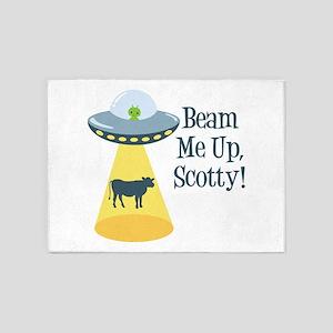 Beam Me Up, Scotty! 5'x7'Area Rug